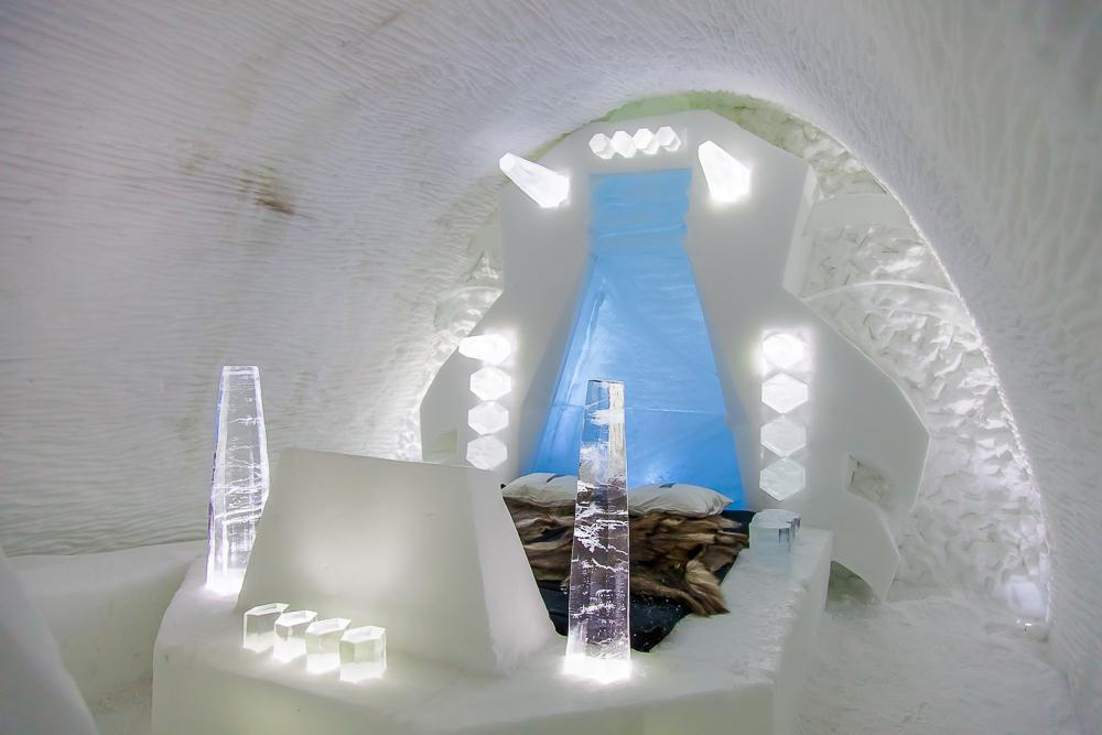 kiruna icehotel swedish lapland sweden bedroom