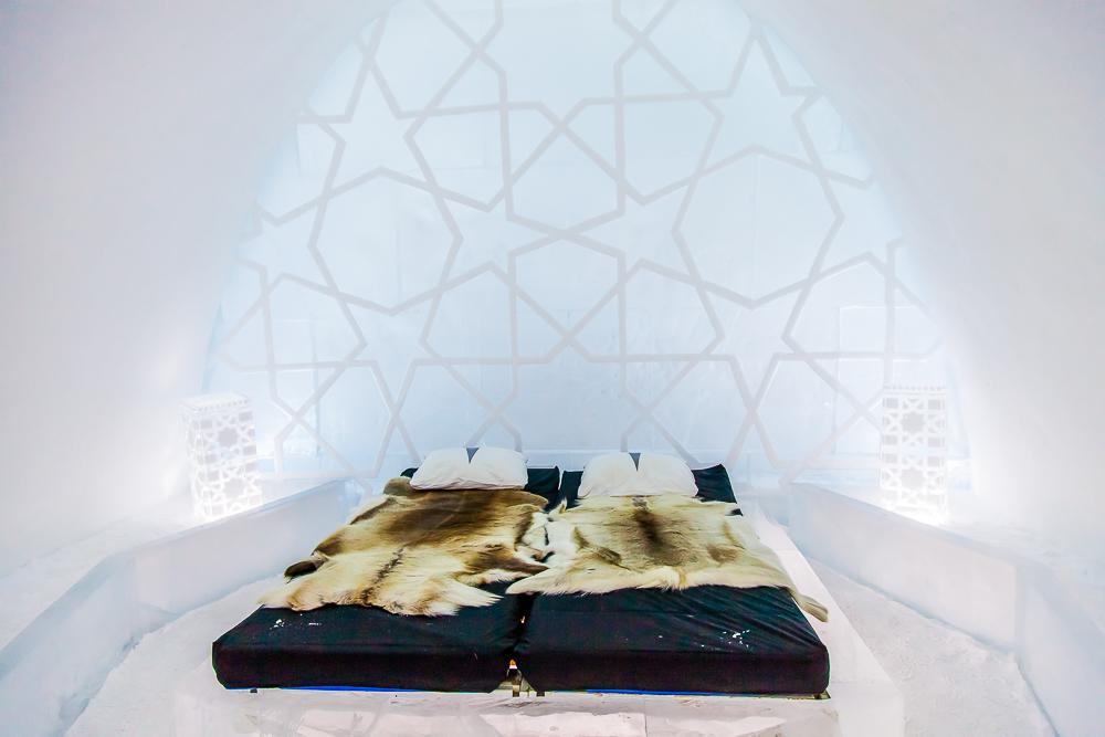 kiruna icehotel swedish lapland sweden bedroom