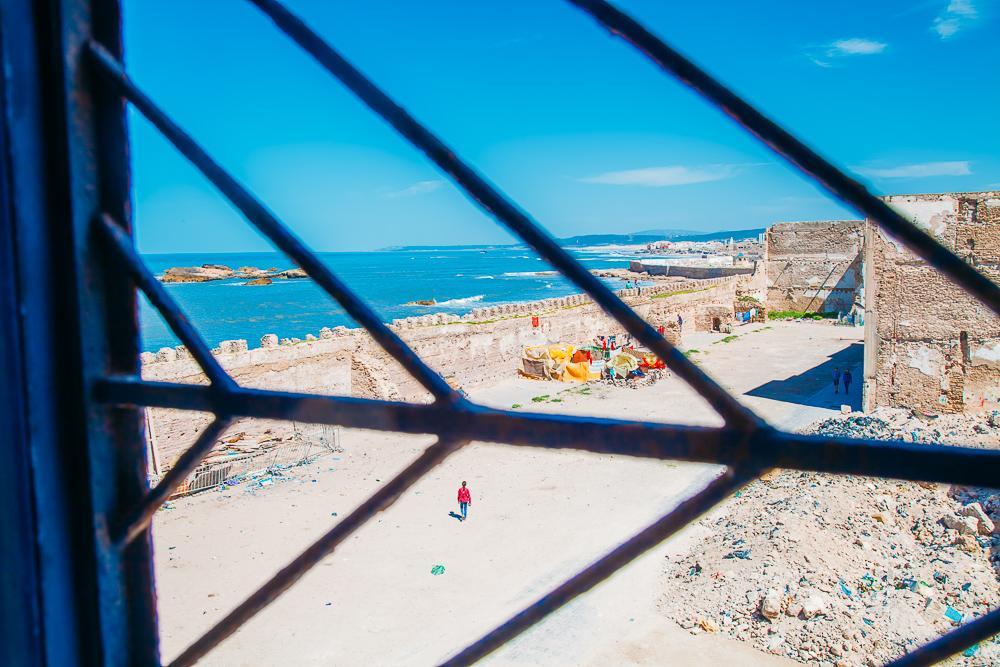 view from essaouira synagogue morocco