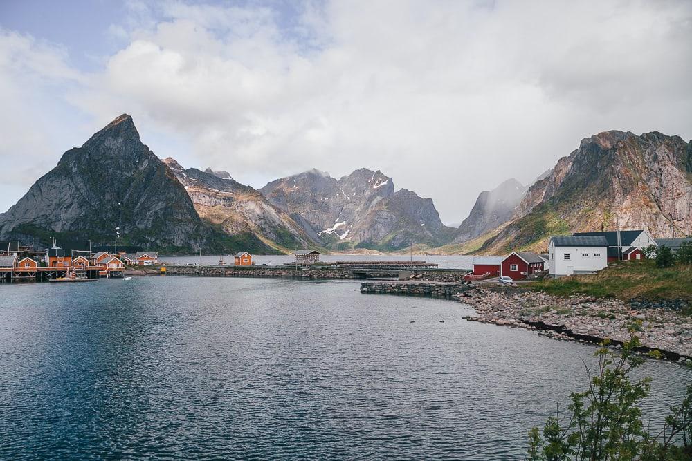 summer on Sakrisøy, Lofoten in June northern norway