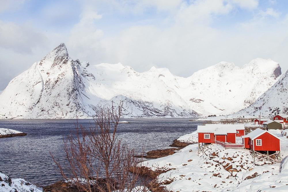 lofoten in march snow