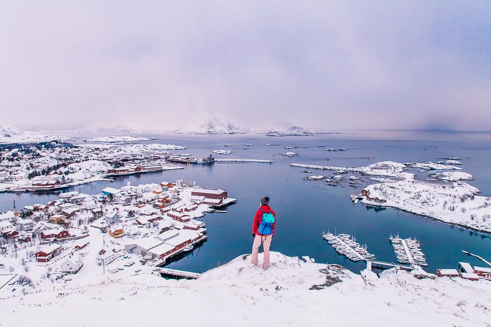 ballstad march winter snow lofoten norway