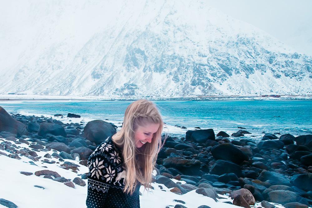unstad beach arctic surf lofoten norway