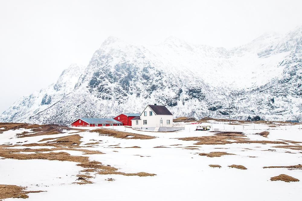 lofoten norway winter snow