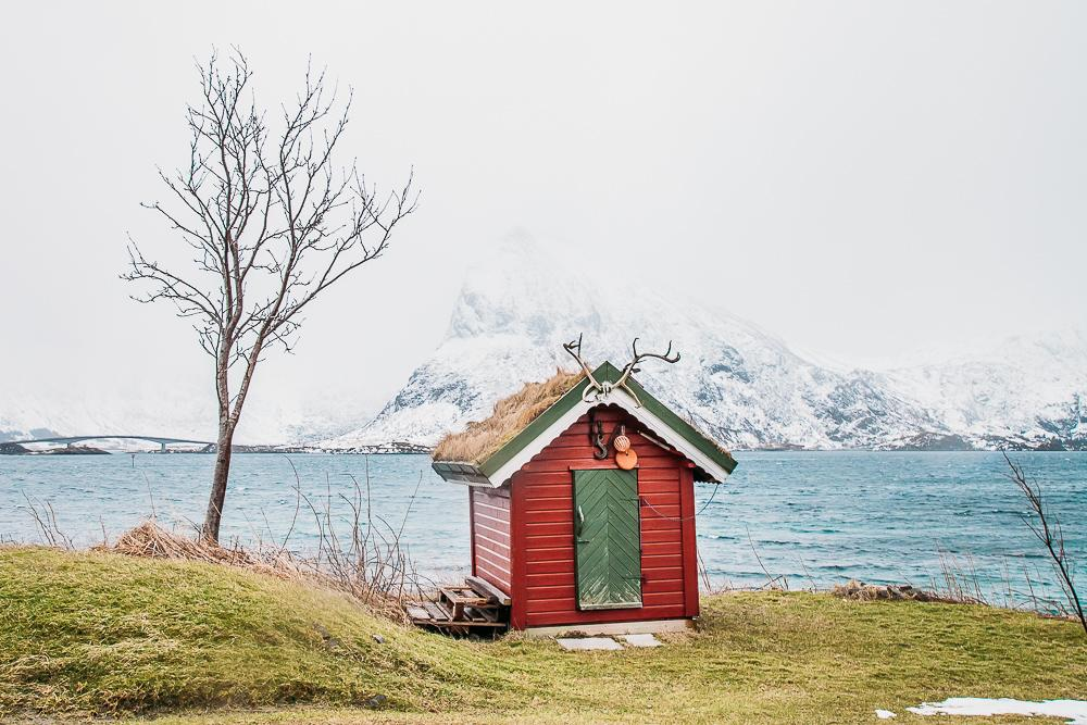 fredvang winter in lofoten norway march snow