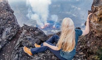 Climbing Mount Nyiragongo Volcano in the Congo