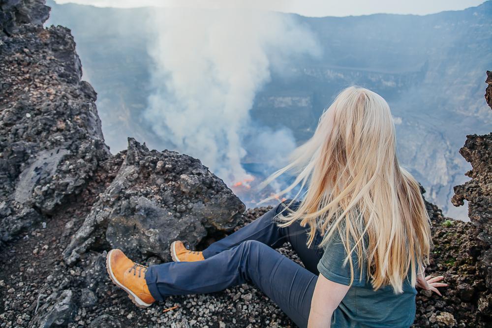 Climbing Mount Nyiragongo volcano in the Congo (DRC)