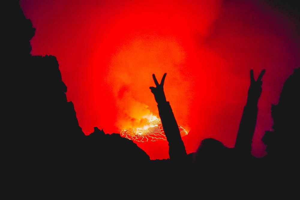 world's largest lava lake nyiragongo volcano drc