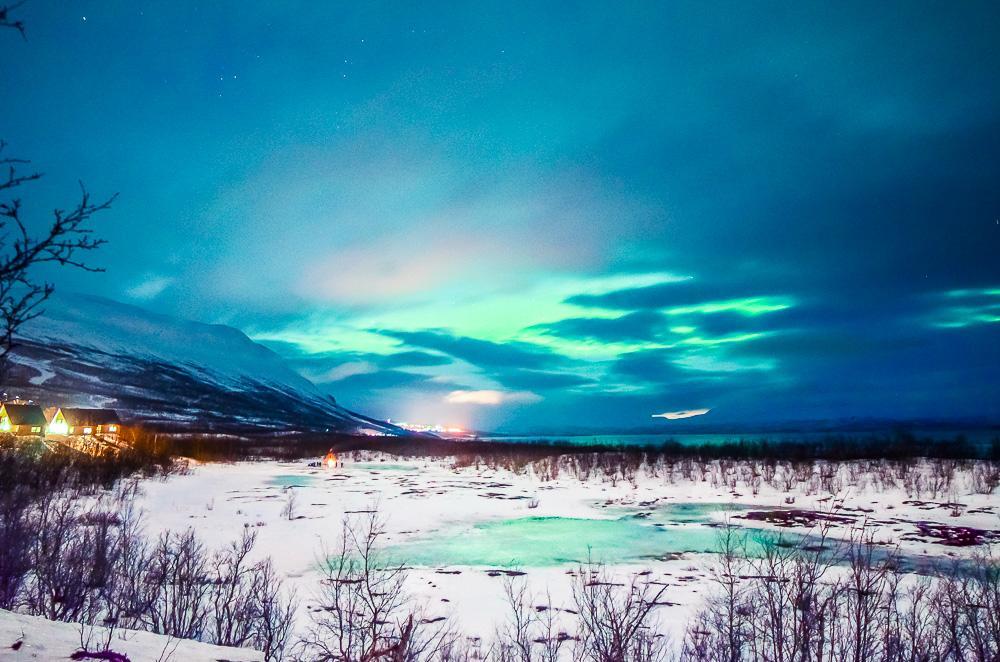 abisko northern lights swedish lapland