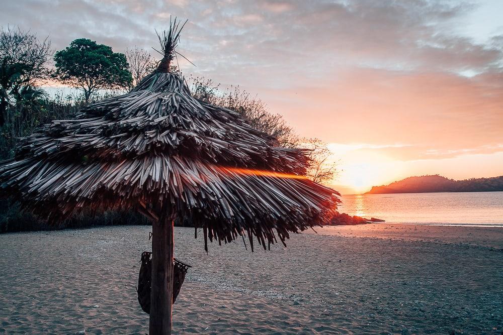 Laka Lodge beach sunset