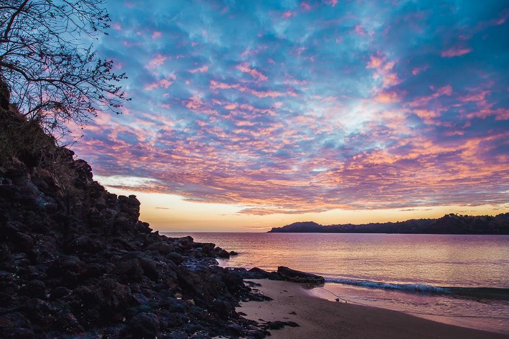 laka lodge beach moheli sunset