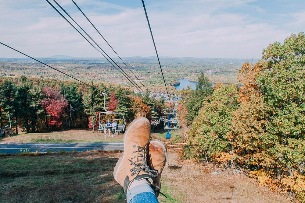 ski lift wachusett worcester fall foliage