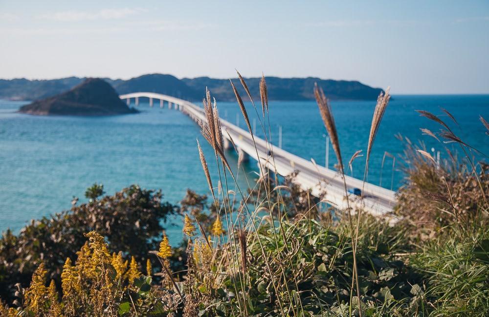 tsunoshima bridge yamaguchi japan