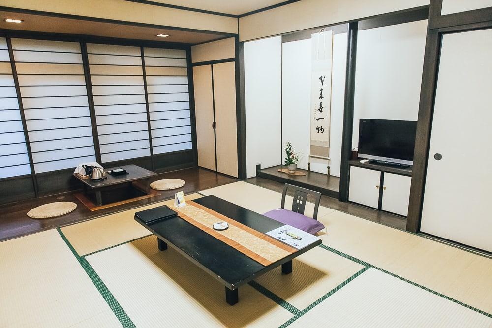 tatami room japanese ryokan yamaguchi