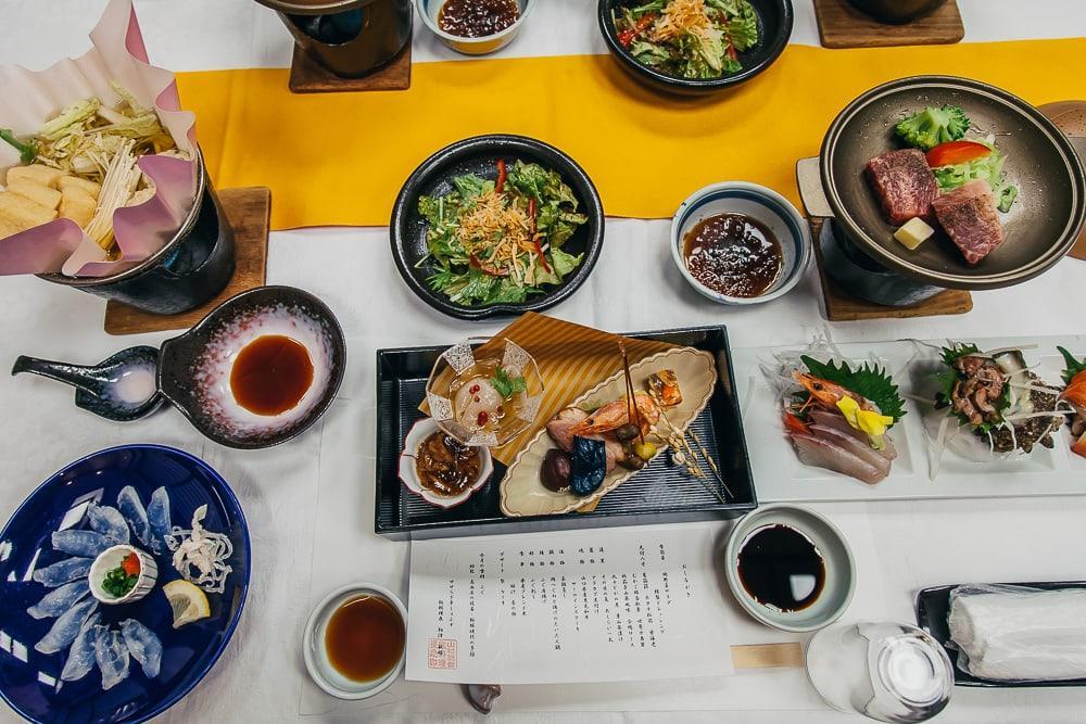 ryokan japanese dinner yamaguchi
