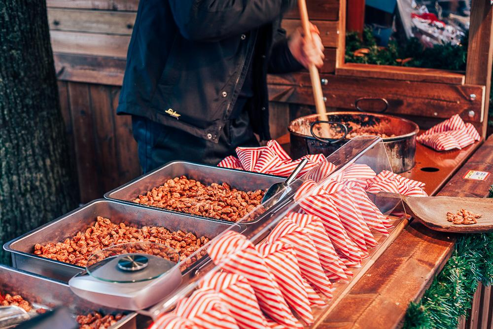 roasted nuts christmas markets in oslo norway