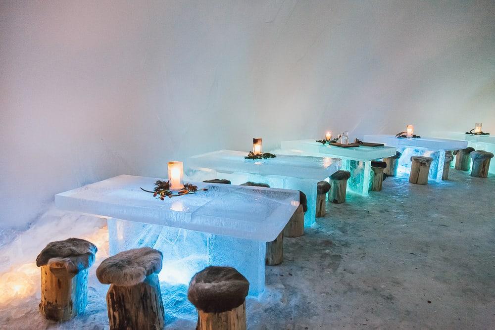 ice restaurant northern lights village saariselka inari finland