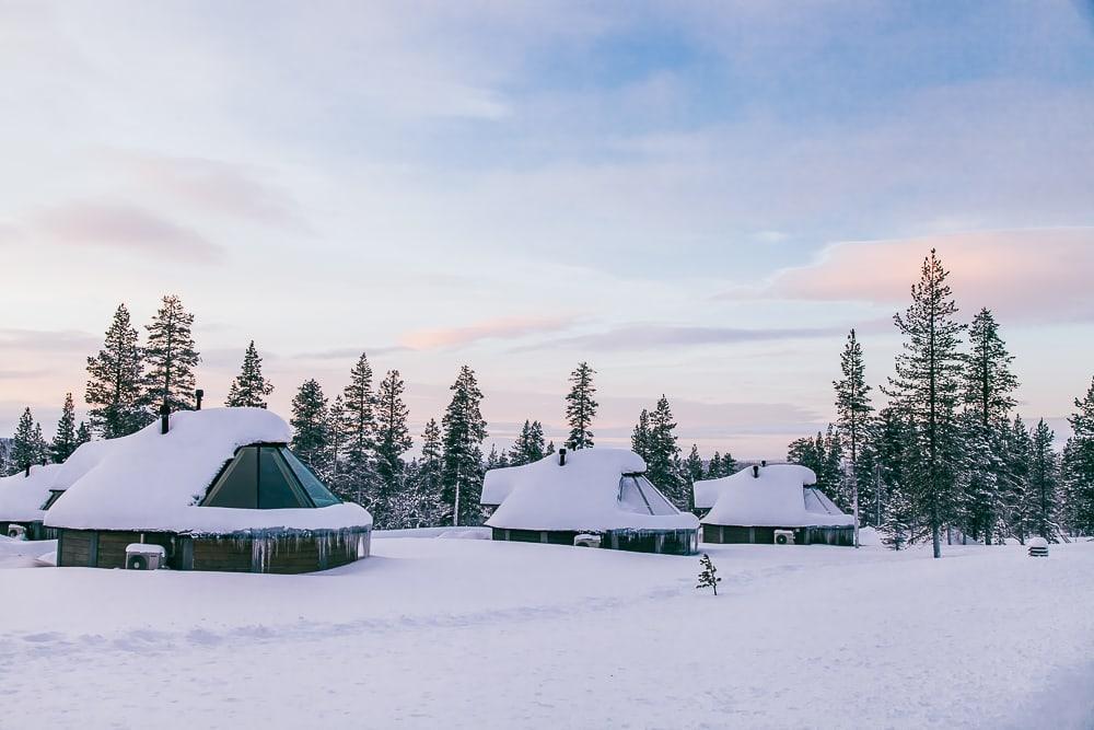 aurora cabin glass roof finland