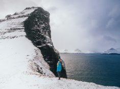 kalsoy kallur lighthouse winter snow