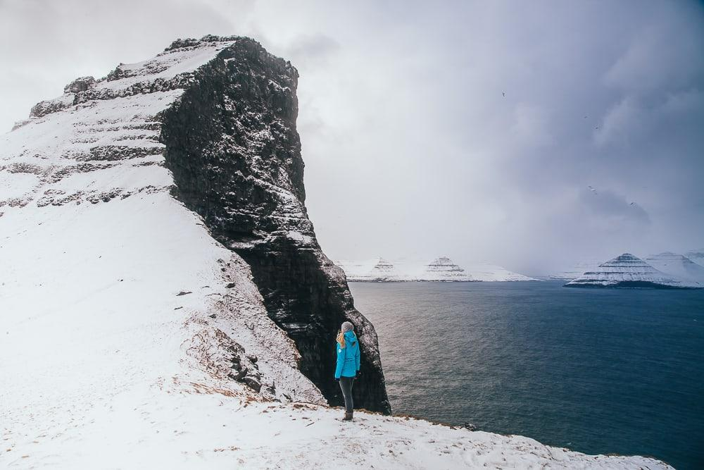 kalsoy kallur lighthouse winter snow