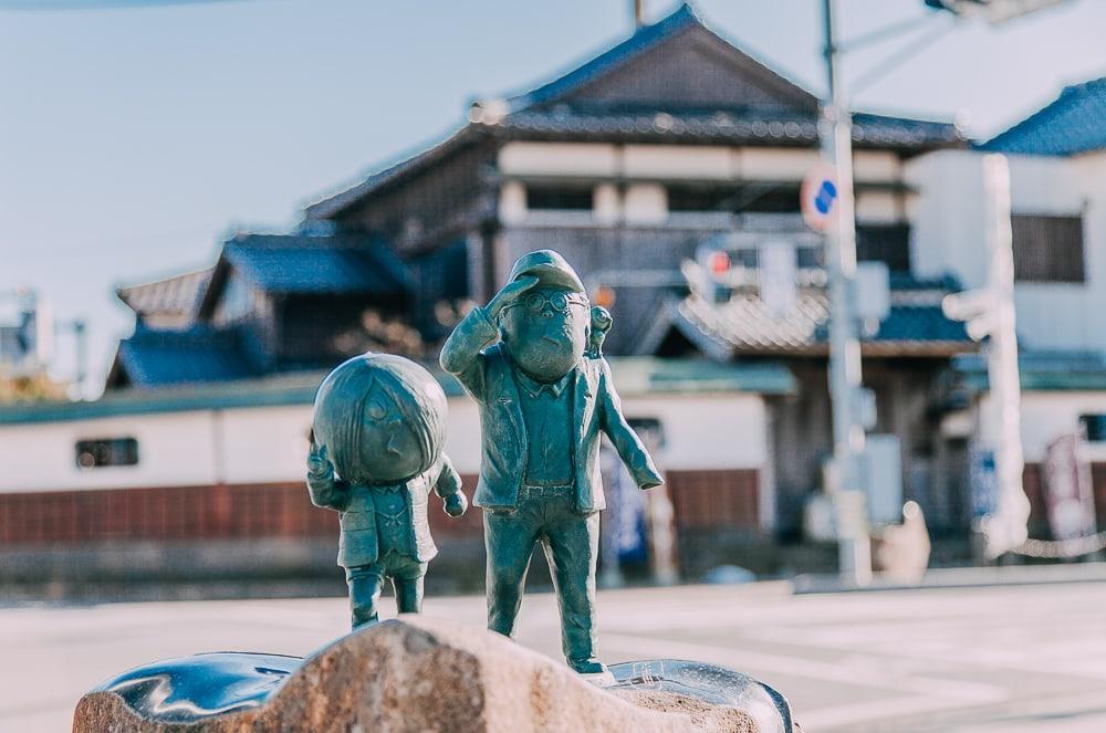 Mizuki ShigeruGe Ge Ge no Kitaromanga Sakaiminato statues