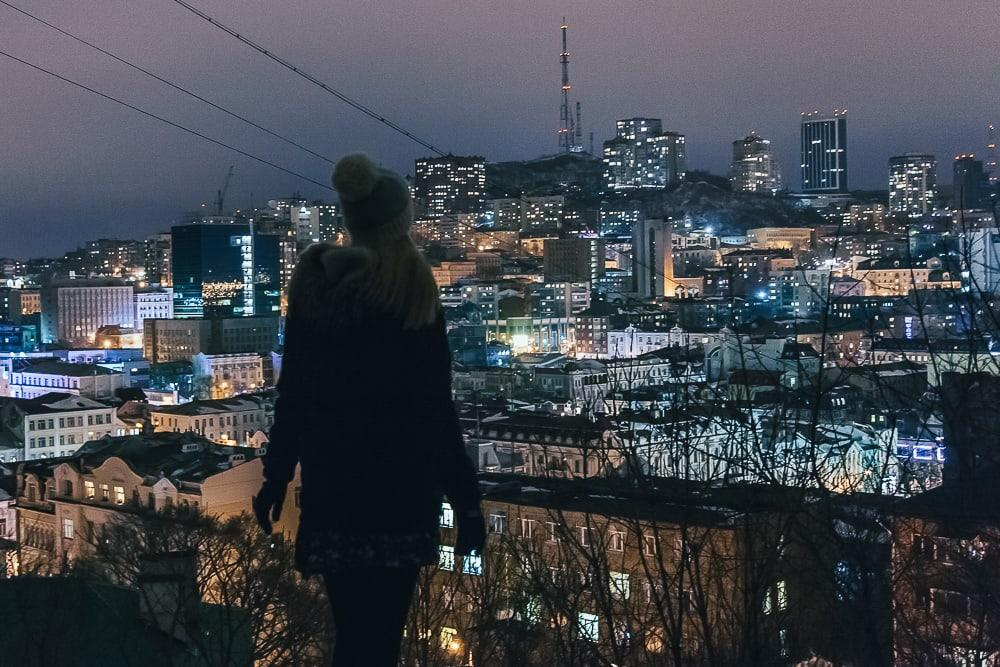 vladivostok at night