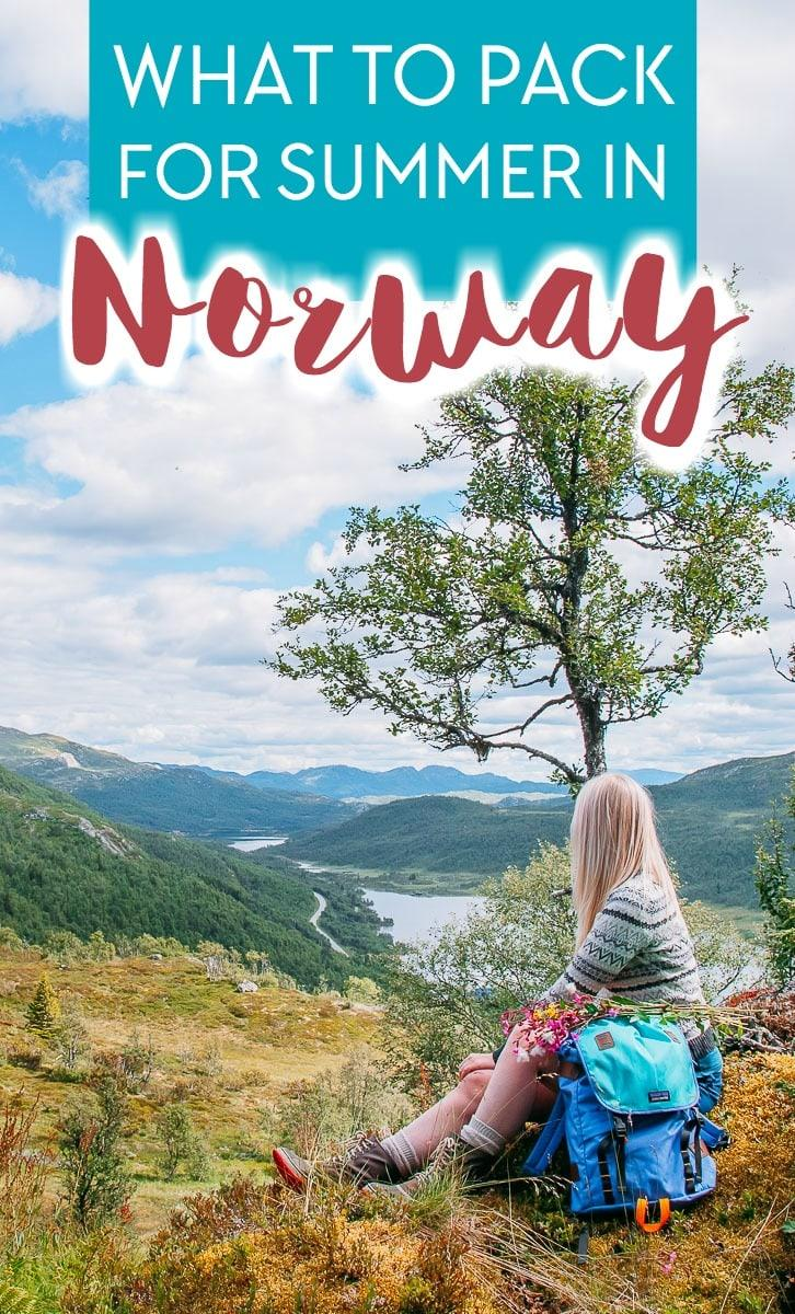 If you're planning your Norway summer packing list, here's everything to pack for summer in Norway.