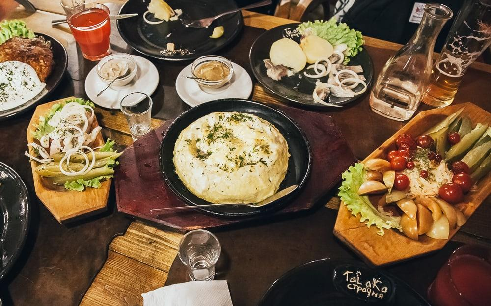 talaka minsk traditional belarusian food in minsk with live music