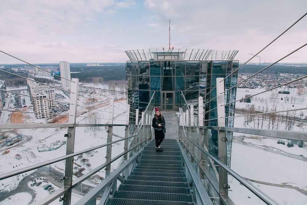 minsk national library sky deck views