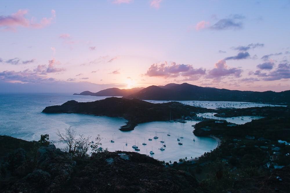 shirley heights antigua barbuda sunset view