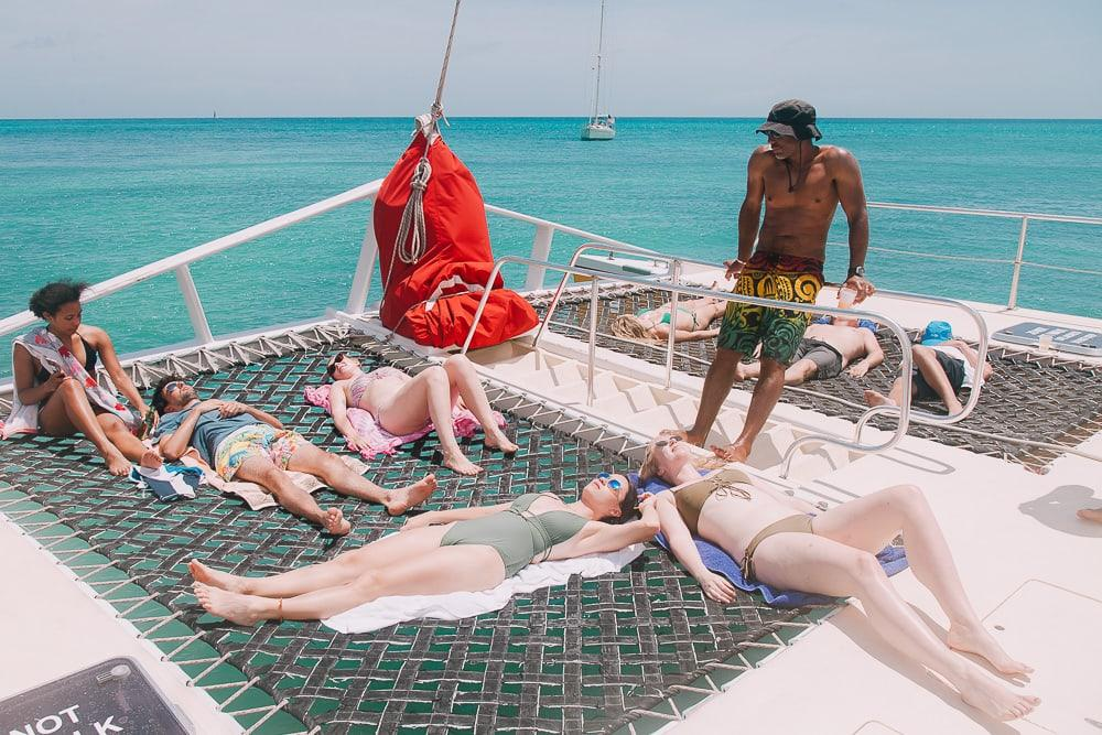 chase the race antigua sailing week with wadadli cats catamaran
