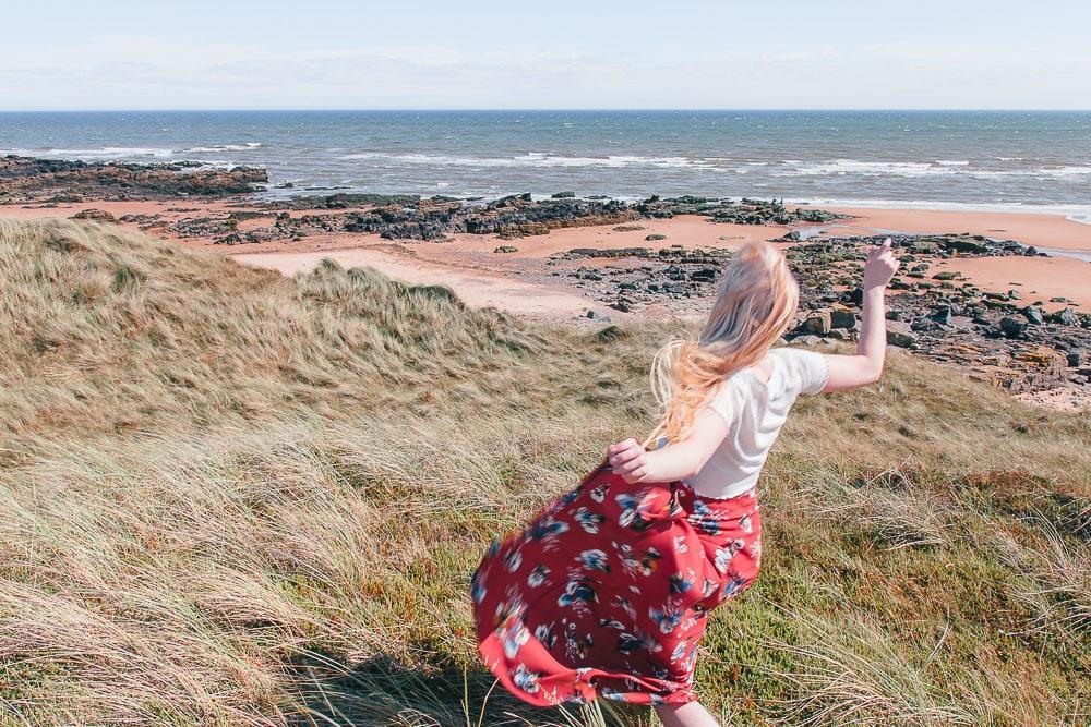 forvie sands beach aberdeen scotland