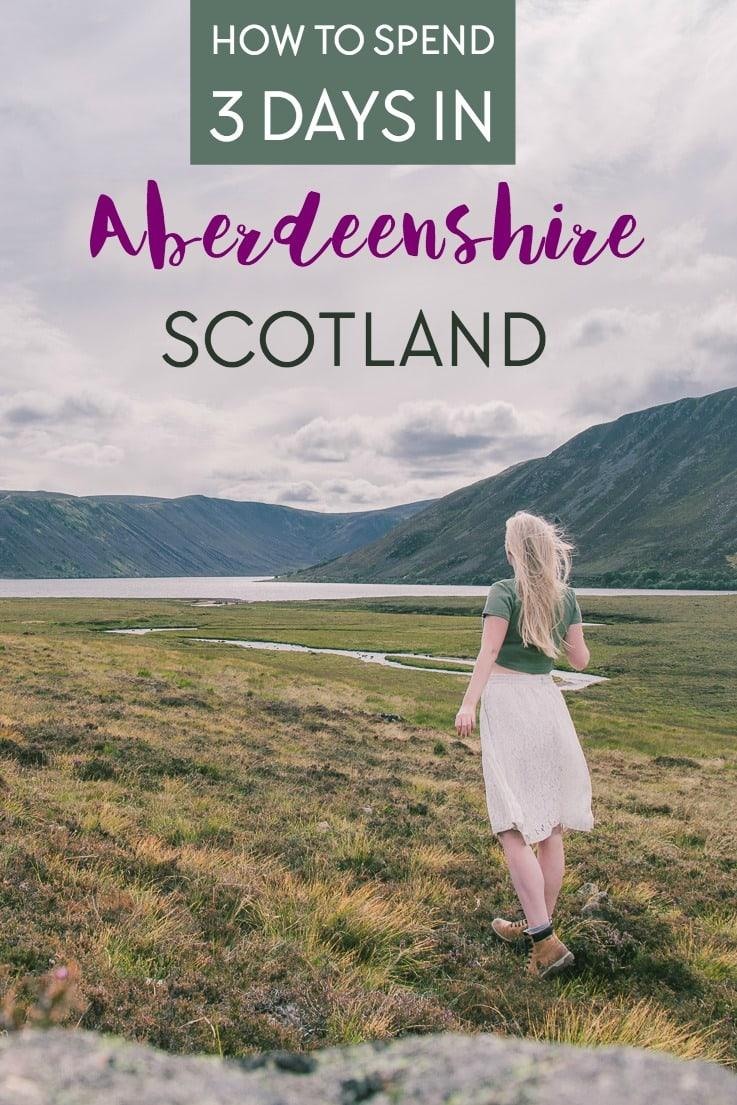 Aberdeenshire Scotland 3 day itinerary including things to do in Aberdeen, where to stay, where to eat, and what to see in Aberdeenshire