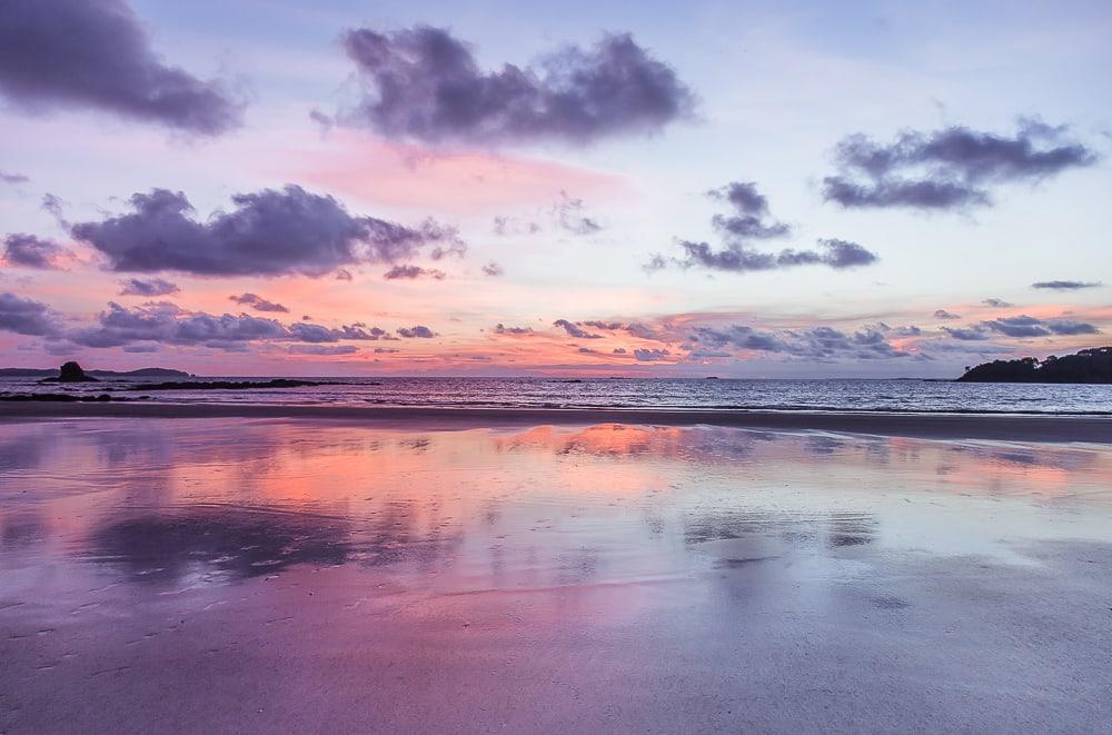 isla palenque gulf of chiriqui panama sunset