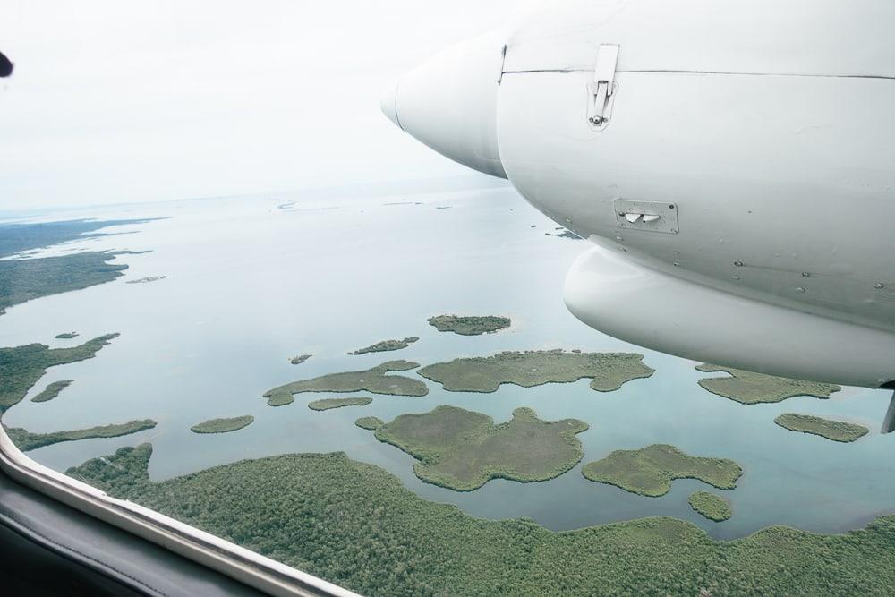 flying over san blas panama