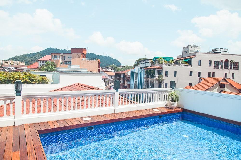 american trade hotel rooftop pool panama city