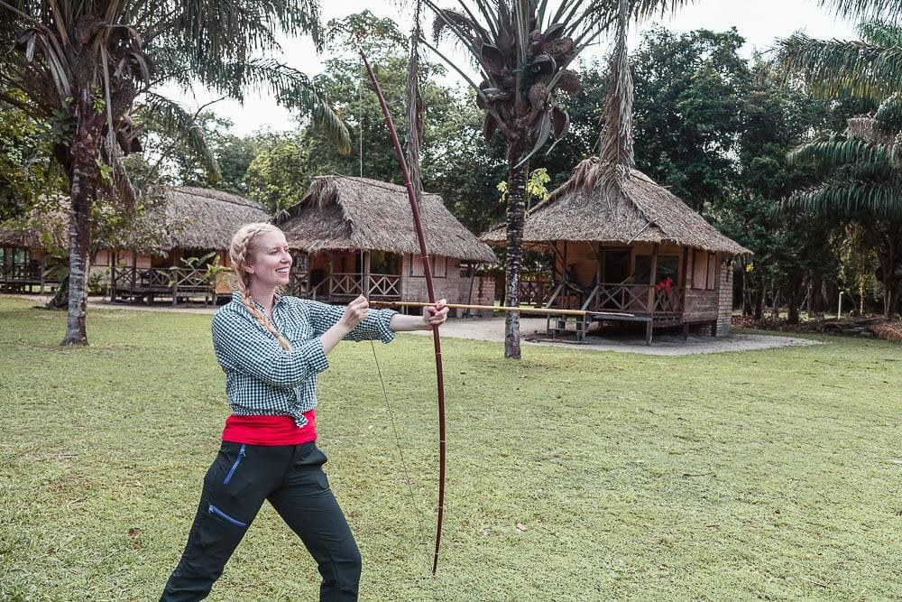 bow and arrow amerindian guyana