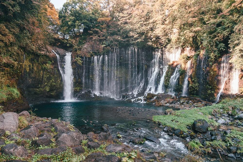 shiraito water falls fuji japan