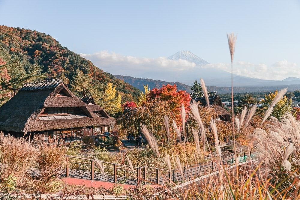 Saiko Iyashino-Sato Nenba ancient village Mt Fuji Japan