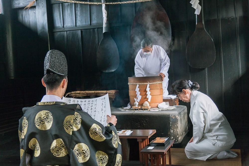 Narukama Shinji ritual Kibitsu shrine okayama japan