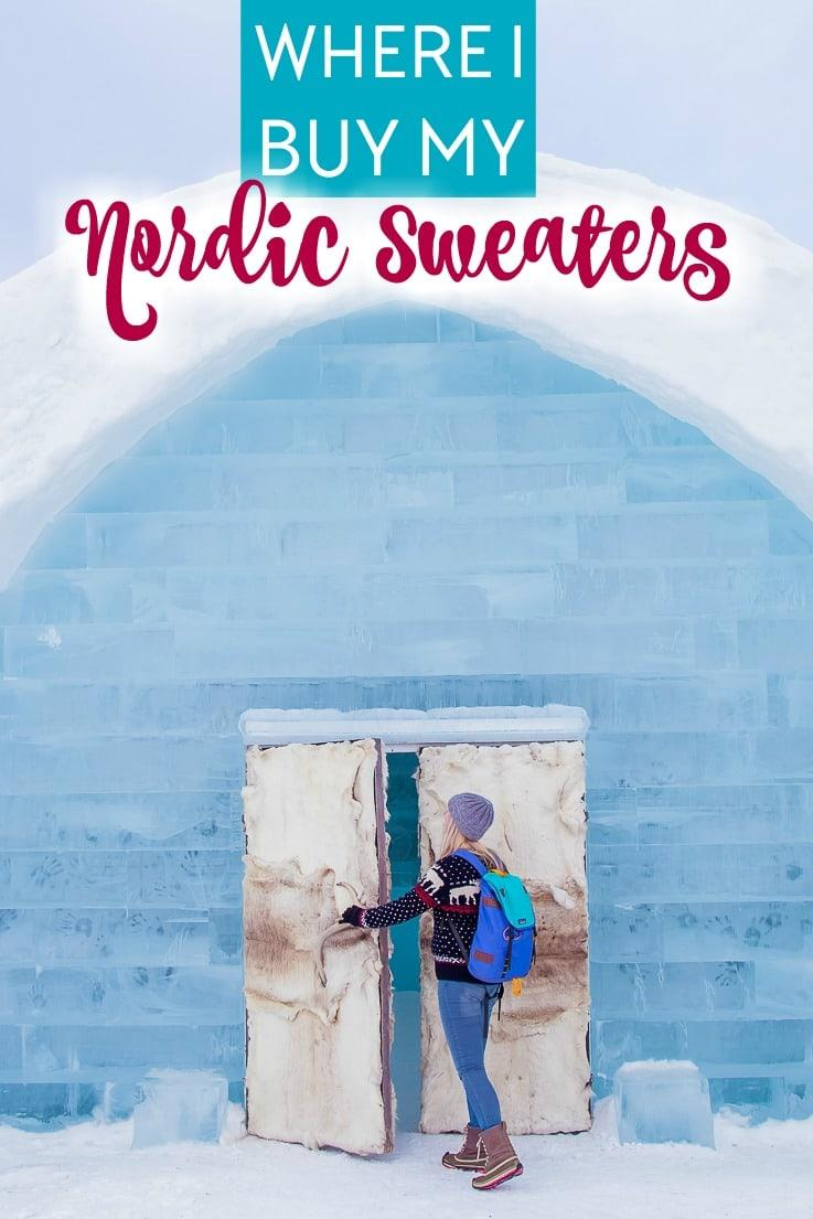 nordic wool fair isle Norwegian sweater guide