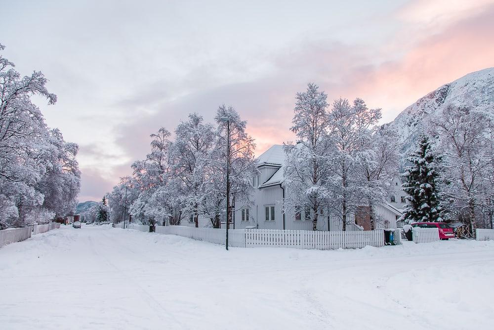 Mosjøen Helgeland Northern Norway in winter