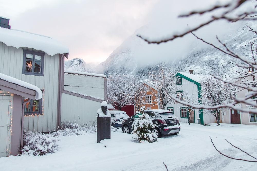 Mosjøen Helgeland Northern Norway in winter snow
