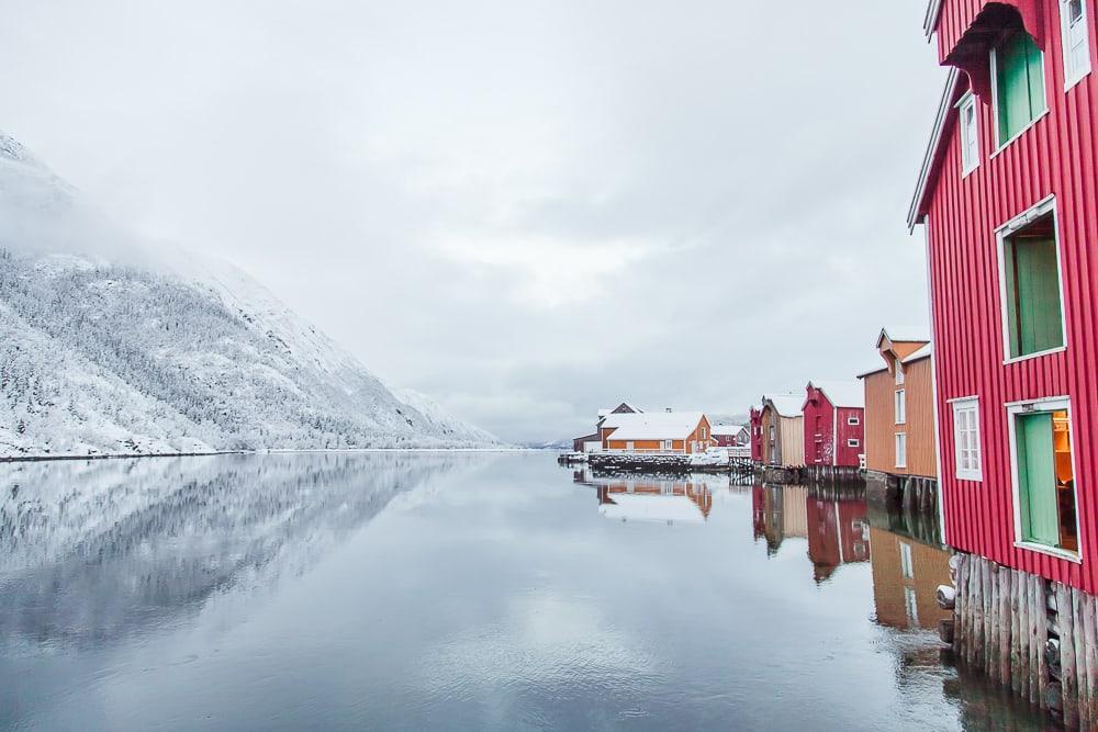 Sjøgata Mosjøen Northern Norway winter