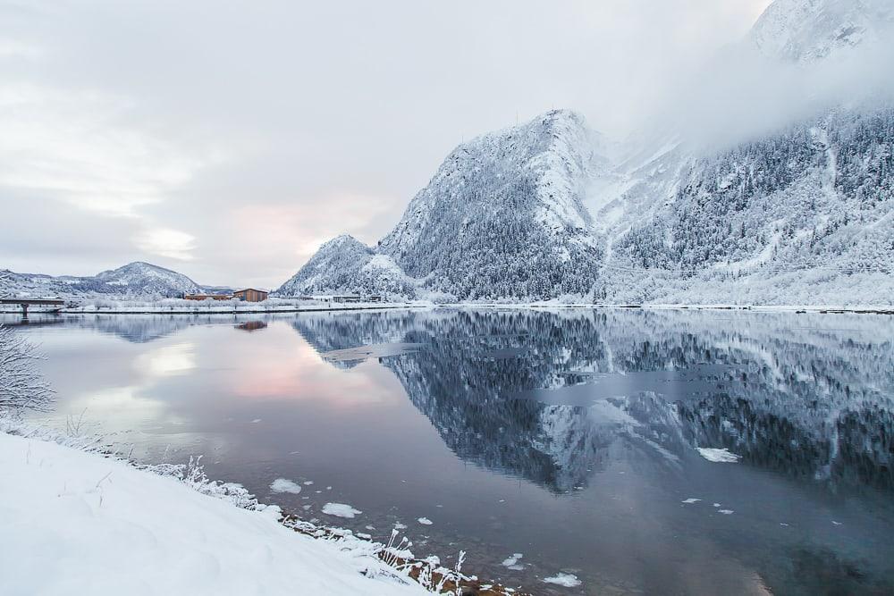 winter in Mosjøen Helgeland Norway snow