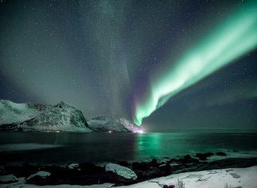 northern lights in senja, norway