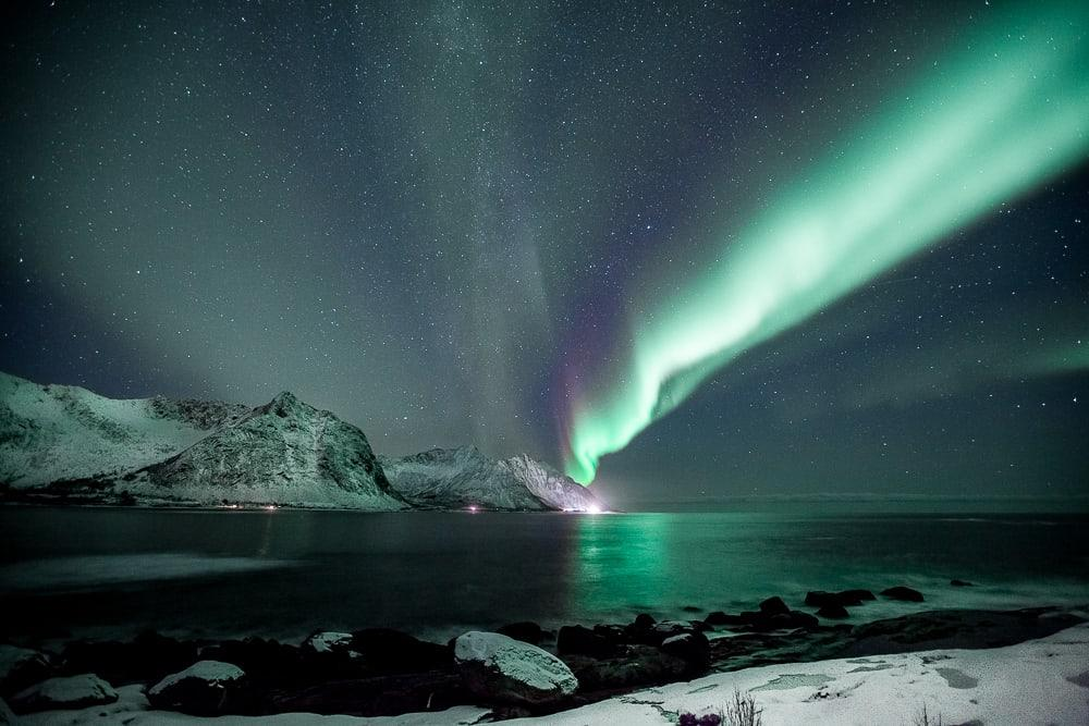 northern lights in senja, norway