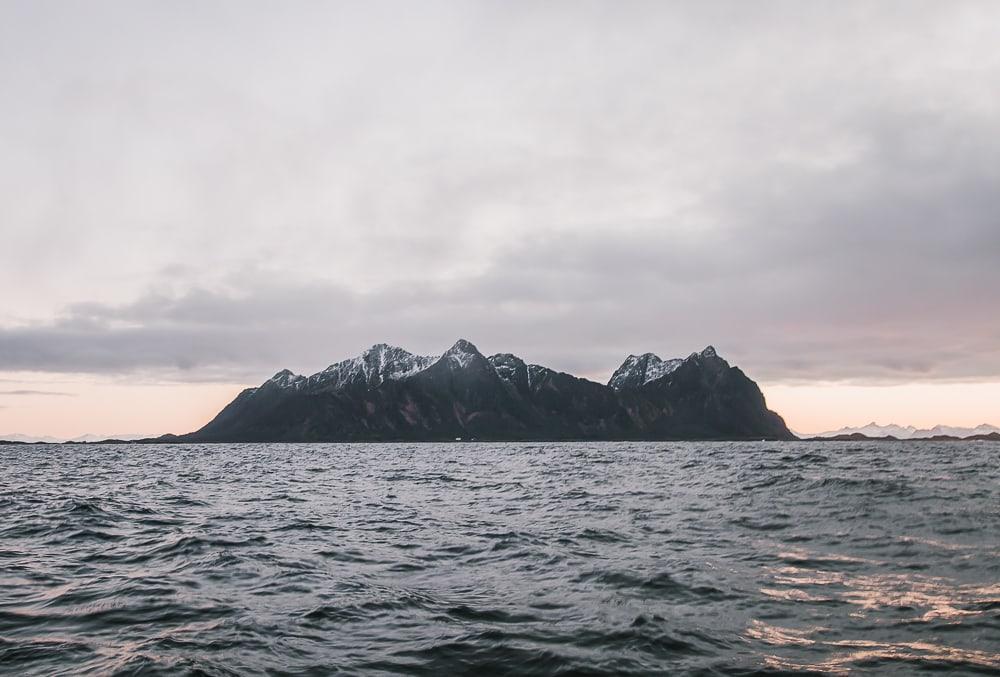 trollfjord lofoten safari winter in december in norway