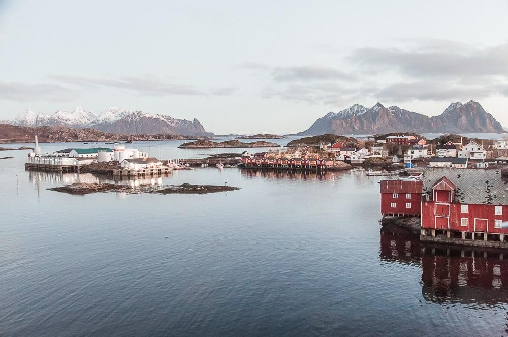 svinøya svolvaer lofoten norway in december