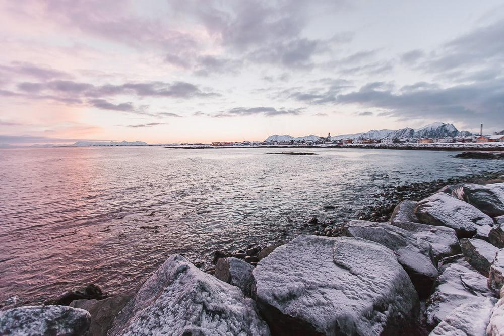 andenes norway in winter polar night